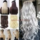 Real Thick Hair Extensions 1Pcs 3/4Full Head Clip in Hair Extension Long Natural