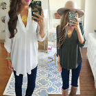 Women's Loose Long Sleeve Casual Blouse Shirt Tops Fashion Blouse US STOCK ba