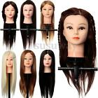 24'' Real Human Hair Hairdressing Training Head Practice Mannequin Doll + Clam