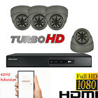 4x HD 1080P 2.4MP HIKVISION CCTV CAMERA SYSEM DOME OUTDOOR DVR 4CH DVR HDMI P2P