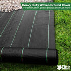 4m x 25m Woven Ground Cover Weed Control Fabric Landscape Membrane with Pegs