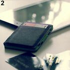 Men's Faux Leather Magic Credit Card Id Money Clip Slim Wallet Holder Bluelans