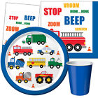 TRAFFIC JAM Birthday Party Range - Car Bus Truck Van Tableware & Decorations