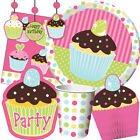 SWEET TREATS Birthday Party Range - Cupcakes Tableware Balloons & Decorations