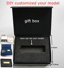 Wholesales USB Flash Paper Black Gift Box Jewel Case Wedding/Business Gift Box S
