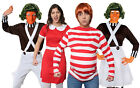 ADULTS CHOCOLATE FACTORY WORKERS BOOK / FILM CHARACTER FANCY DRESS COSTUMES