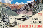 LAKE TAHOE WINTER SPORT SKI JUMPING THRILL OF A LIFETIME VINTAGE POSTER REPRO
