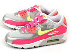 Nike Air Max 90 Mesh (GS) Pure Platinum/Liquid Lime-Silver-Pink 724855-001 Youth
