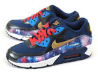 Nike Air Max 90 Premium Leather (GS) Metallic Hematite/Gold-Blue 724879-004 Kids