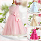 US LT Pink Wedding Party Dresses Bridesmaid Flower Girls Dress AGE SIZE 2 to 10Y