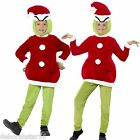 Children's Dr Seuss The Grinch Fancy Dress Costume World Book Day Outfit age 4-9