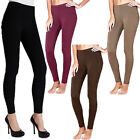 Ladies Warm Thick Thermal Winter Stretch Fleece Leggings Footless Tight Size   W