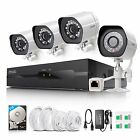 Zmodo 4CH NVR 1080p HD PoE IP Network Outdoor IR Home Security Camera System 2TB