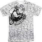 Popeye Faces of Popeye Sublimation Short Sleeve Men's T-Shirt S-3XL