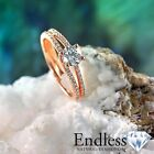 1.4 CT Certified Diamond Engagement Ring 14k Gold Size 6.5 SI/G-H Real Enhanced