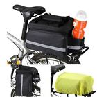 Multi-Functional Classic Bike Travel Bicycle Rear Seat Pannier Bag + Rain Cover