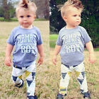 Newborn Infant Baby Mama's Boy T-shirt+ Long Pants Outfits Clothes Playsuit US
