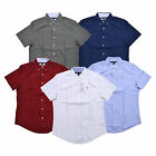 Tommy Hilfiger Mens Buttondown Shirt Short Sleeve Custom Fit Casual Collared New