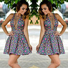 Women Summer Casual Sleeveless Casual Evening Party Cocktail Short Mini Dress US