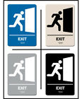 blue color schemes for kitchens - ADA Approved Braille EMERGENCY EXIT Sign 6