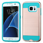 For Samsung Galaxy S7 Edge Brushed Hybrid Impact Armor Protector Case Cover