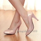 Women's High Heel Ladies' Pointed Pumps Synthetic Leather Court Shoes All Size