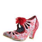 Womens Irregular Choice Sugar Plum Red High Heel Court Shoes Size