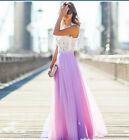 US Stock Women Formal Wedding Long Evening Party Ball Prom Gown Cocktail Dress