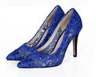 Ladies High Heel Mesh Stiletto Pumps Wedding Pumps Pointy Toe Hollow Out Shoes