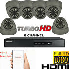 6X CCTV CAMERA SYSTEM 2.4 FULL HD 1080P 8 CHANNEL DVR HIKVISION HDMI REMOTE VIEW