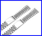 18mm 20mm Stainless Steel Flat End Jubilee Watch Band Bracelet image