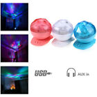 Aurora Color Changing LED Night Light Bedroom Light Projector Lamp with Speaker