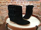 Matt Bernson Black Suede 2 in 1 Moto Riding Boots NEW