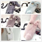 3D Phone Case Bling Rabbit Fur Plush Shell Phone Case Cover For iPhone