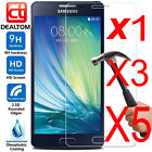 1-5X 9H+ Tempered Glass Screen Protector For Samsung Galaxy A3 A5 A7 2016 / 2017
