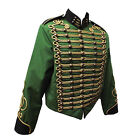"""Steampunk"" Military Jacket by SDL in Green / Black trim & Gold Braid decoration"