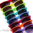 2 Pack Bright Neon Colorful Framed Retro Vintage Sunglasses with UV Protection!