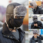 Men/Women Winter Fur Beanie Aviator Bomber Hat Trooper Earflap Warm Ski Mask Cap