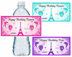 PARIS EIFFEL TOWER BIRTHDAY PARTY FAVORS WATER BOTTLE LABELS