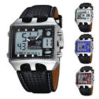 Kyпить OHSEN Black Leather Men Alarm Analog Digital Waterproof Quartz Sport Wrist Watch на еВаy.соm