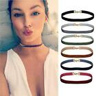 6PC Choker Necklace Gothic Velvet Ribbon Women's Collar Set Mix Color Choker Lot