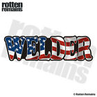 Welder Decal American Flag MIG TIG ARC USA Gloss Vinyl Welding Sticker HGV