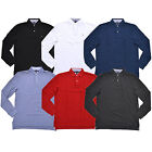 Tommy Hilfiger Shirt Mens Polo Long Sleeve Classic Fit Mesh Knit Flag Logo New