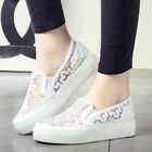 Womens Running shoes sneakers Platform High Top Canvas Lace Breathable Casual