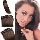 22 inches 120g 7pcs/set Full Head Clip in 100% Real Remy Human Hair Extensions