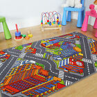 Big City Interactive Fun Roads Play Time Small Large Cheap Children's Rug