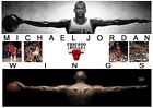 MICHAEL JORDAN CHICAGO BULLS SIGNED NBA MATTED WINGS PHOTOGRAPH