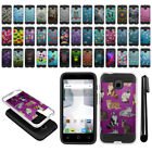 For Alcatel Dawn 5027/ Acquire/ Ideal Shockproof Brushed Hybrid Cover Case + Pen