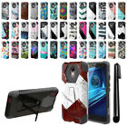For Motorola Droid Turbo 2 Kinzie XT1585 Hybrid Dual Layer Kickstand Case + Pen