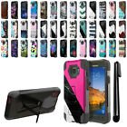 For Samsung Galaxy S7 Active G891 Hybrid Dual Layer Stand Case Phone Cover + Pen